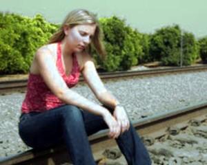 a depressão nas jovens raparigas